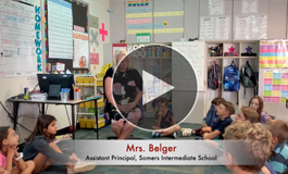 Link to video of Mrs. Belger with students