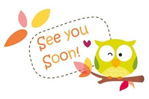 See you soon with winking owl
