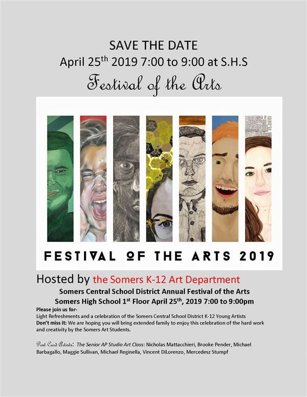 District-wide Art Show - April 25th, 7-9 p.m. at Somers High School