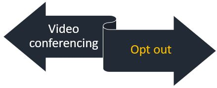 Opt out of video conferencing agreement for synchronized support sessions