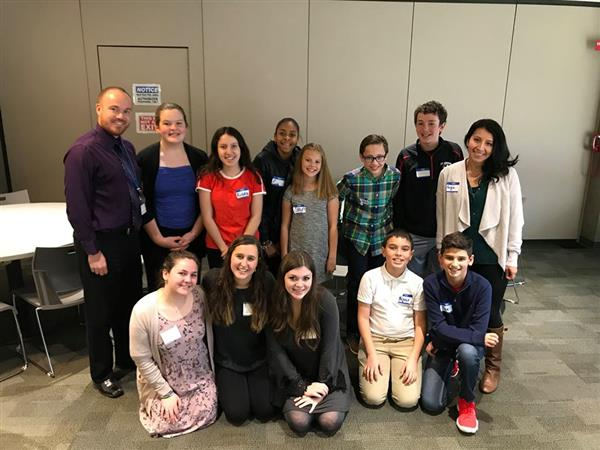 SMS Students Attend Human Rights Institute for Middle School Student Leaders