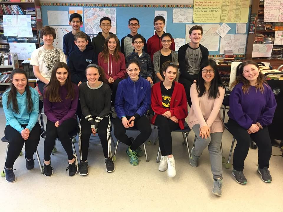 25 Somers Middle School Students Receive 2018 Scholastic Writing Awards