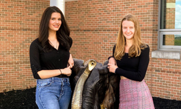Jennie Baker, salutatorian and  Maeve Janecka, valedictorian