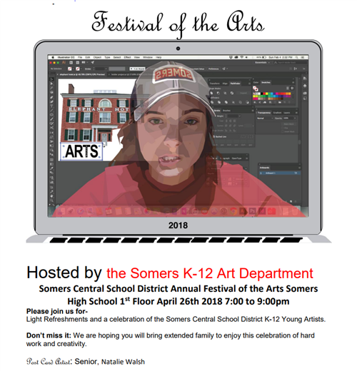 Somers Central School District Annual Festival of the Arts Somers High School April 26, 2018 7:00PM to 9:00PM