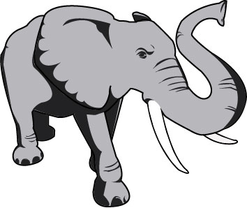 Small grey elephant