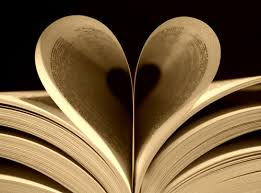 Pages of a book in shape of a heart