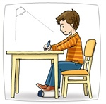 correct sitting posture for handwriting analysis